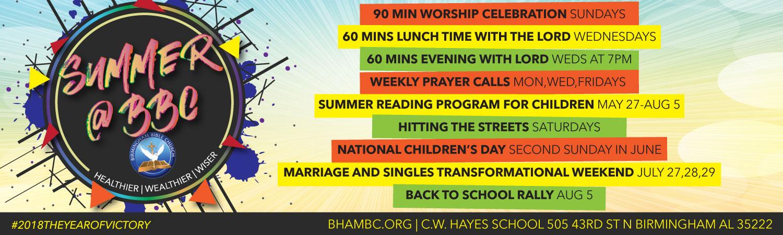 Summer 2018 at Birmingham Bible Church
